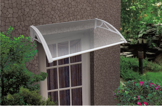 The Byron Window and Door Canopy - White Brackets - Clear Cover 1200mm ... & The Byron Outdoor Canopy Window Awnings Cover 1200 x 800mm Premium ...