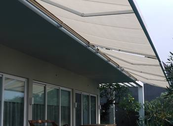 Retractable Awning Patio Cover Full Cassette 50m X 3m Motorised Beige