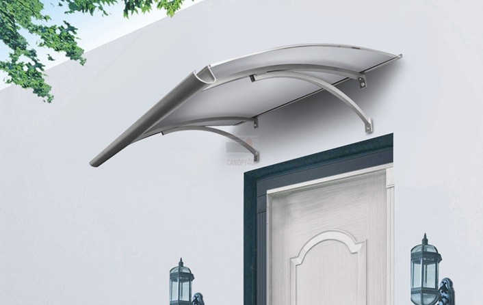 The Haymen Door Canopy 1400x900mm Silver Metal Brackets